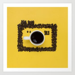 Coffee camera Art Print
