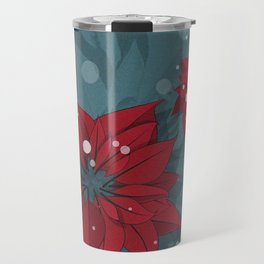 Poinsettias - Christmas flowers | BG Color II Travel Mug