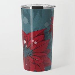 Poinsettias - Christmas flowers | BG Color II Travel Mug