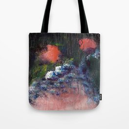 Poppy - Mixed Media Acrylic Abstract Modern Art, 2009 Tote Bag