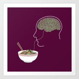 Noodle Brain Art Print
