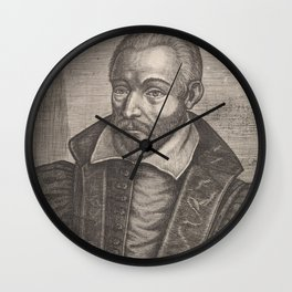 Old portrait painting | Van Philippe, 1645 Wall Clock