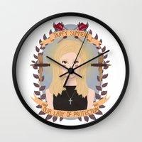 buffy Wall Clocks featuring Buffy Summers by heymonster