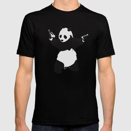 Banksy Pandamonium Armed Panda Artwork, Pandemonium Street Art, Design For Posters, Prints, Tshirts T-shirt