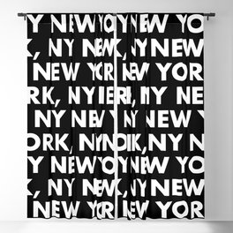 New York, NY Graphic Pattern 121 Black and White Blackout Curtain