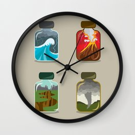 Disaster In A Jar Wall Clock