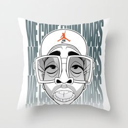 we came from mars Throw Pillow