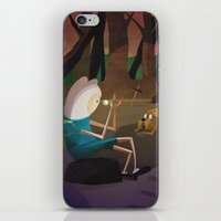 finn and jake iPhone & iPod Skins featuring Finn & Jake by modHero