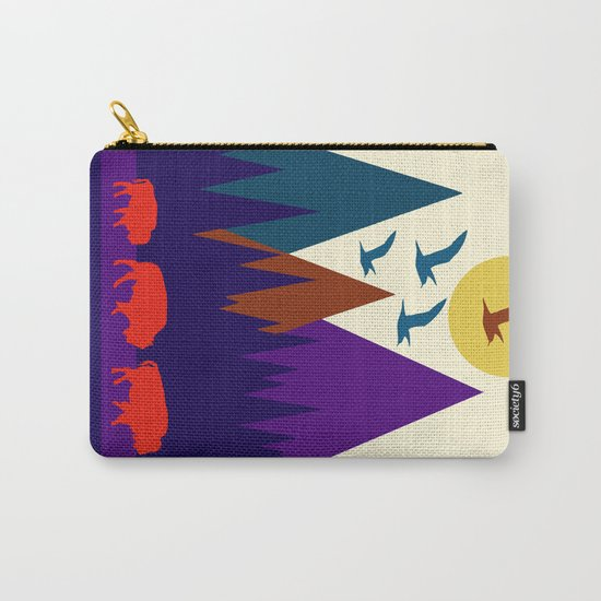 Three Bison Carry-All Pouch
