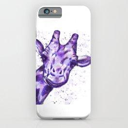 The Purple Giraffe  iPhone Case