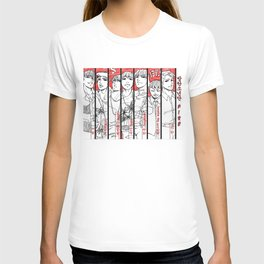 BTS - red, black & white T-shirt