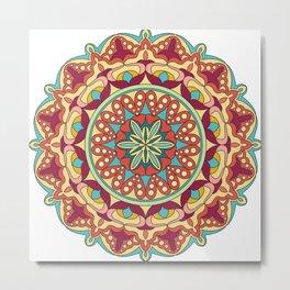Colorful mandala design Metal Print