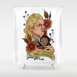 Jane Goodall Shower Curtain