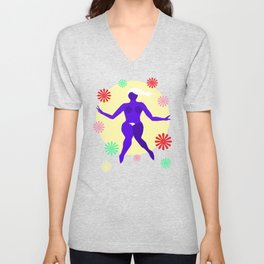 The Dancer III Unisex V-Neck