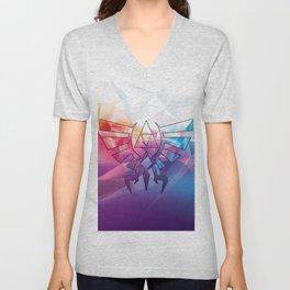 Zelda Triforce colorful Diamond Unisex V-Neck