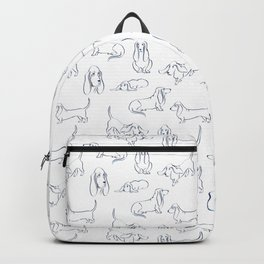 Basset Hounds Pattern Backpack