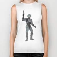 robocop Biker Tanks featuring Robocop by James White