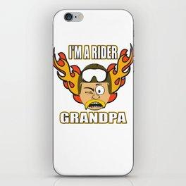 The Awesome & Cool Rider Tshirt BIKER GRANDPA iPhone Skin
