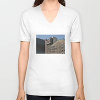 buildings V-neck T-shirts featuring NYC Buildings by johntrif