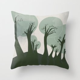 Trees 3 Throw Pillow