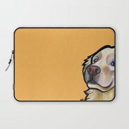 George the golden retriever (orange) Laptop Sleeve