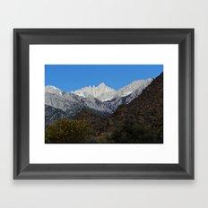 Mt Whitney Framed Art Print
