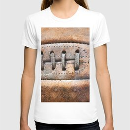 Old leather soccer ball T-shirt