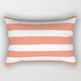 Coral Stripe Pattern Rectangular Pillow