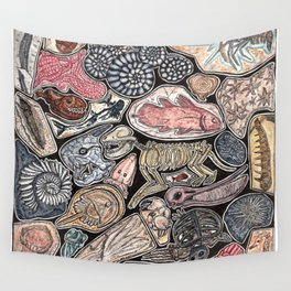 Fossils for history, dinosaur and archaeology lovers Wall Tapestry