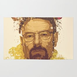 Breaking Bad, Walter White splatter painting Rug