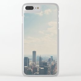Looking down on the city ... Clear iPhone Case