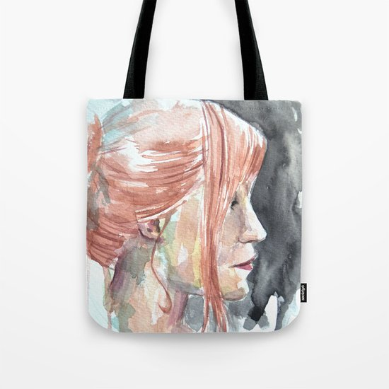 Redhead watercolor Tote Bag