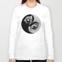 ying yang Long Sleeve T-shirts featuring ying yang by ivette mancilla
