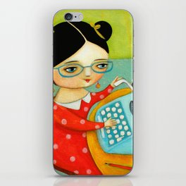 The writer of stories iPhone Skin