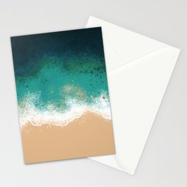 OverHead Beach Stationery Cards