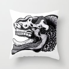 Illustration of a Ghost Throw Pillow