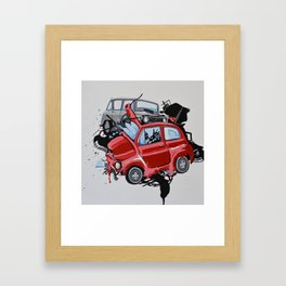 Carsharing Framed Art Print