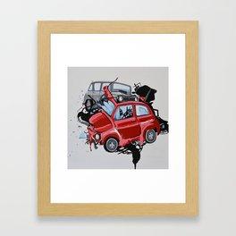 Carsharing Framed Art Print