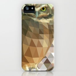 Burrowing Owl - Low Poly Technique iPhone Case