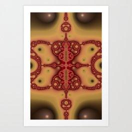 """Brickred"" Fractal Art Print Art Print"