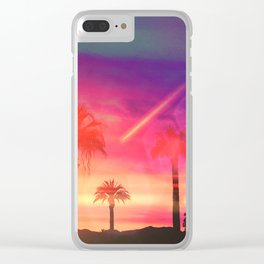 Neon Beach Clear iPhone Case