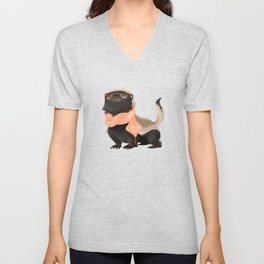 Honey Badger Don't Care Unisex V-Neck
