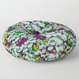 Tree from paradise cherry blossoms in sacred bloom Floor Pillow