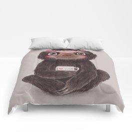 Sloth I♥yoga Comforters