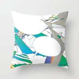 Color #6 Throw Pillow