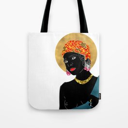 Mary in White Tote Bag