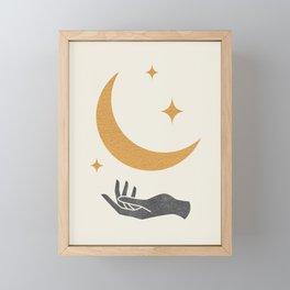 Moonlight Hand Framed Mini Art Print