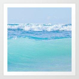 Kapukaulua Pure Blue Surf Art Print