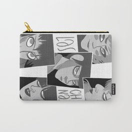 Las chinas Black and White Carry-All Pouch
