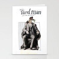 birdman Stationery Cards featuring Birdman by Melanie Ida Chopko